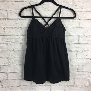 Lululemon Black Sports Yoga Bra Tank Size 8